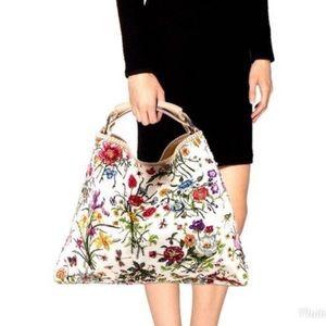 Gucci Flora Horsebit Shoulder Bag - RARE